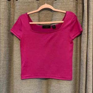 Express square neck crop